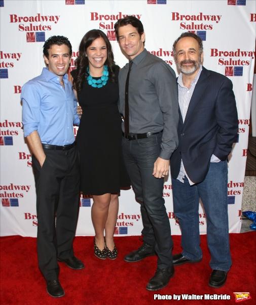 Jarrod Spector, Lindsey Mendez, Andy Karl and Adam Heller