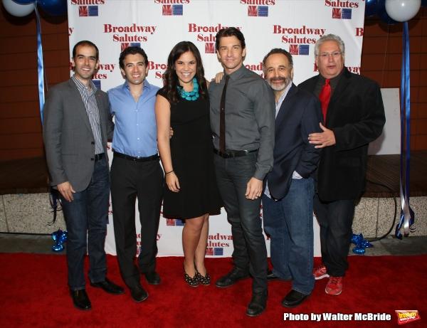 Marc Bruni, Jarrod Spector, Lindsey Mendez, Andy Karl, Adam Heller and Harvey Fierstein