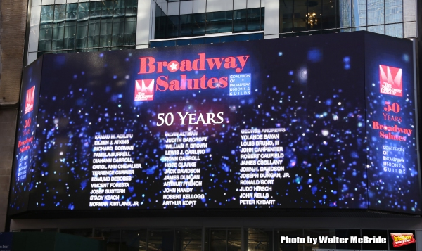 Billboard for the Sixth Annual Broadway Salutes