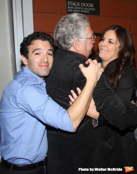 Jarrod Spector, Harvey Fierstein, and Lindsay Mendez