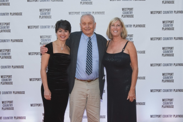 Honoree A. R. Gurney, center, with Gala Co-chairs Katia Friend, left, and Judy Phares, right, both of Westport.