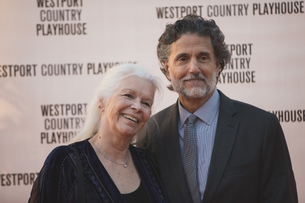 Anne Keefe, Westport Country Playhouse Associate Artist, and actor Chris Sarandon. Photo