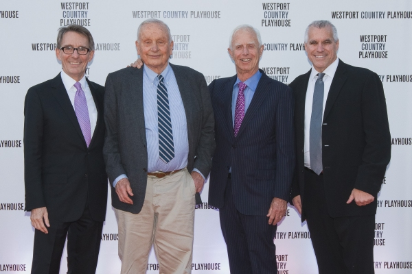 Mark Lamos, Westport Country Playhouse Artistic Director; Playwright A. R. Gurney, Gala Honoree; Former SEC Chair Arthur Levitt, recipient of the Westport Country Playhouse Leadership Award; and Michael Ross, Westport Country Playhouse Managing Director