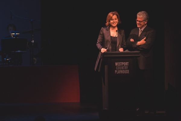 Gala hosts film and stage actress Sigourney Weaver, and her husband Jim Simpson, artistic director of The Flea Theater
