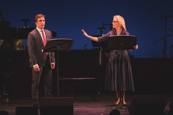 Jake Robards and Maureen Anderman perform a scene from ''The Cocktail Hour'' by A. R. Gurney.