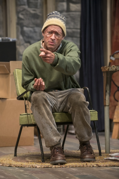 Doc (ensemble member Tim Hopper) expresses concern with his unstable living situation