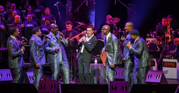 Take 6 and Clint Holmes perform during GEORGIA ON MY MIND