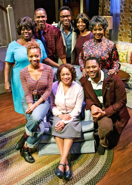 Standing: LILLIAS WHITE, KEVYN MORROW, BILLY PORTER, SHARON WASHINGTON, ELAIN GRAHAM; seated: SHERIA IRVING, S. EPATHA MERKERSON, and LARRY POWELL