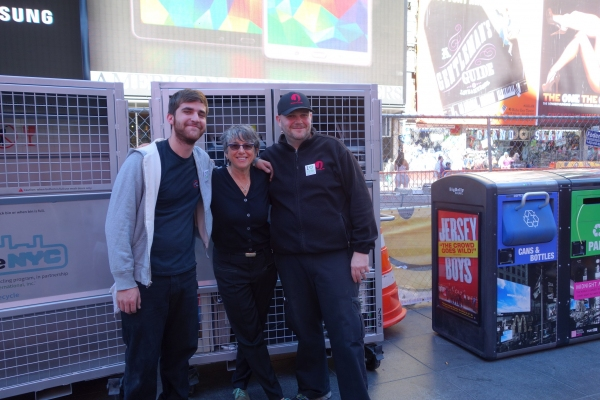 Jennifer Hershey, Vice-President of Building Operations at Jujamcyn Theaters with crew members