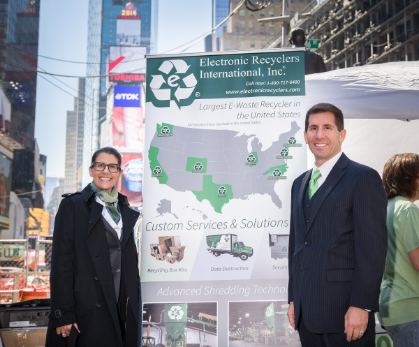 Tammy and John Shegarian, CEO of Electronic Recyclers International.
