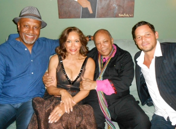 James Pickens, Jr., Freda Payne, Quincy Jones and Justin Chambers (Grey''s Anatomy)