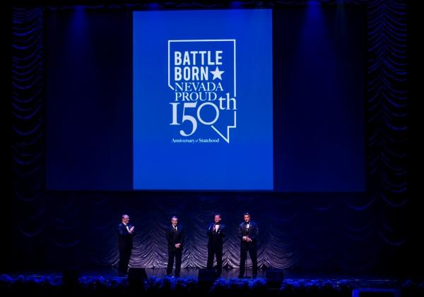 Myron Martin, Don Snyder, Lt. Gov. Brian Krolicki, Gov. Brian Sandoval