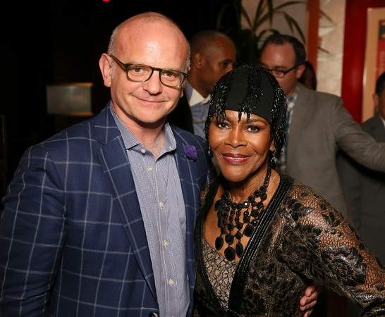 Michael Wilson and cast member Cicely Tyson