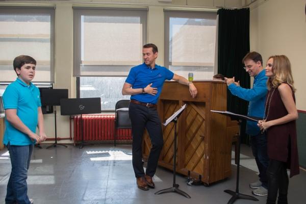 Noah Marlowe, Andrew Lippa, Music Director and Conductor Joel Fram and Kristin Chenoweth