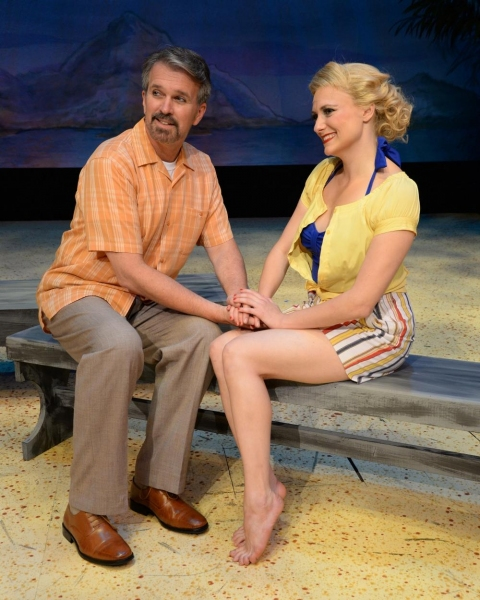George Dvorsky (as Emile deBecque) and Haley Swindal (as Nellie Forbush)