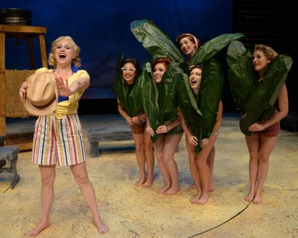 Haley Swindal (Nellie Forbush), Laura Yen Solito, Ashley Lanyon, Maria Logan, Sarah Ellis and Stephanie Cowan perform ''A Wonderful Guy''