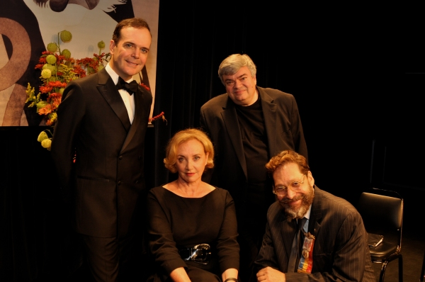 Jefferson Mays, J. Smith Cameron and Terry Teachout with David Staller