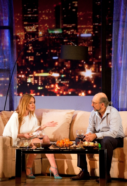 Lindsay Lohan and Richard Schiff