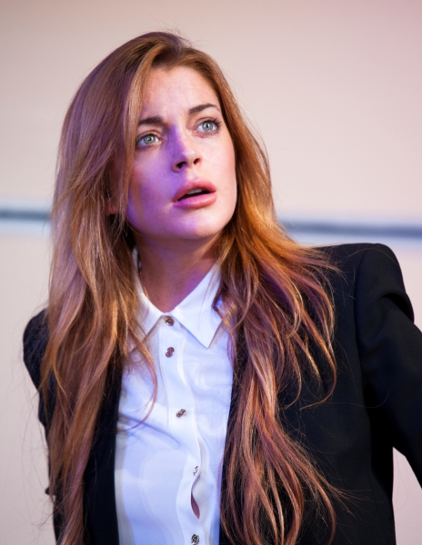 Photo Flash: First Look at Lindsay Lohan & More in West End's SPEED-THE-PLOW