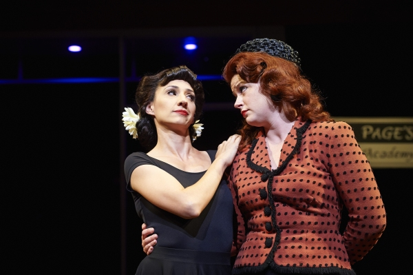 Actors Jodi Dominick (left, as Mrs. Margaret Page) and Laura Welsh Berg (right, as Mrs. Alice Ford)