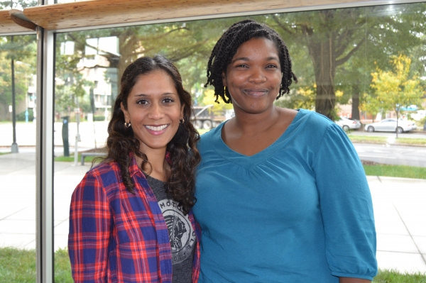 Cast members Lynette Rathnam and Kelly Renee Armstrong