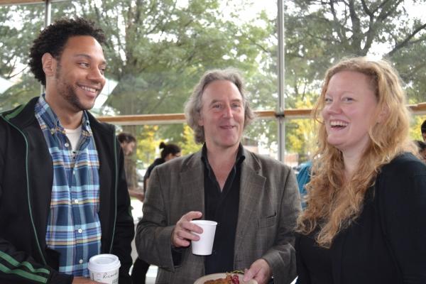Cast members Ricardo Frederick Evans, John Lescault and Sarah Waisanen