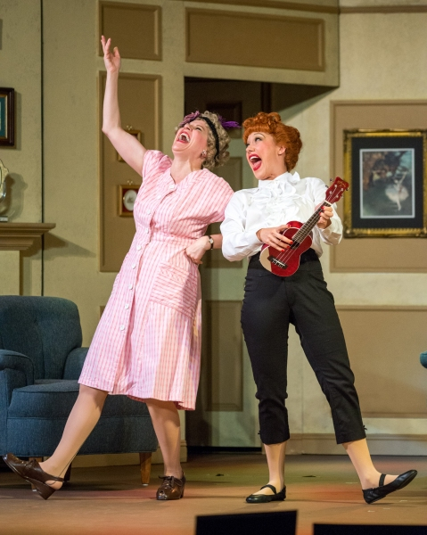 Lori Hammel (Ethel Mertz) and Thea Brooks (Lucy Ricardo)