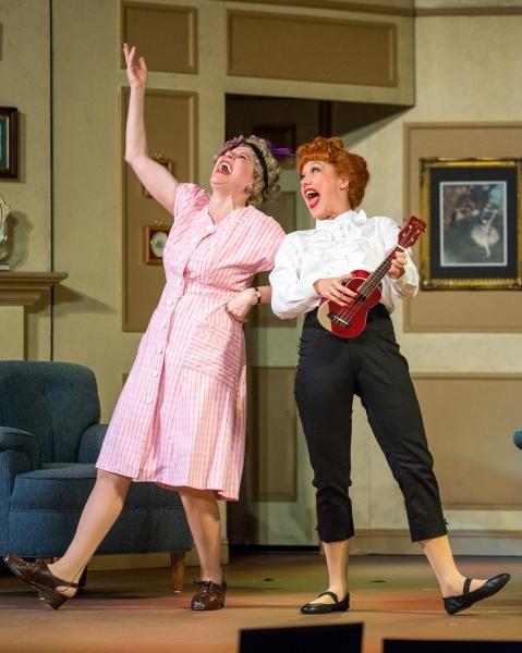 Lori Hammel (Ethel Mertz) and Thea Brooks (Lucy Ricardo)