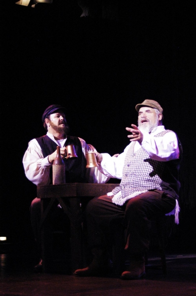 Mark Goetzinger as Lazar Wolf and Douglas E. Stark as Tevye