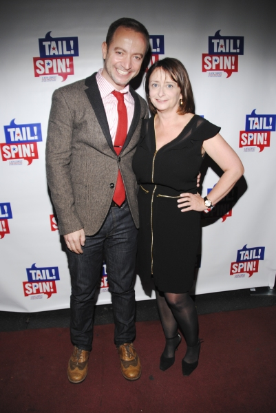 Playwright Mario Correa and Rachel Dratch
