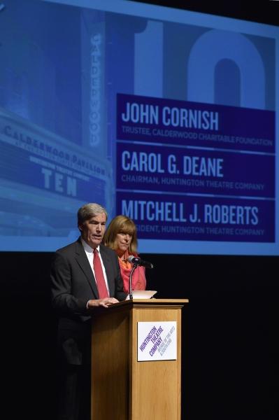 Calderwood Charitable Foundation Trustee John Cornish and Huntington Chairman Carol G. Deane
