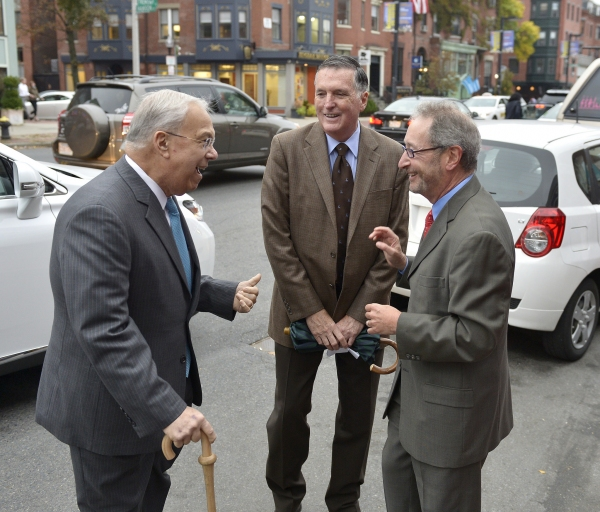 Former Boston Mayor Thomas M. Menino, Harry Collings (formerly of the BRA), and Huntington Managing Director Michael Maso