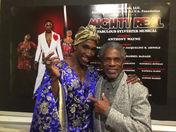 Andre DeShields (left) and Anthony Wayne (right) backstage after the show.