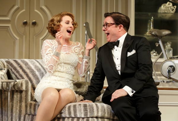 Megan Mullally and Nathan Lane
