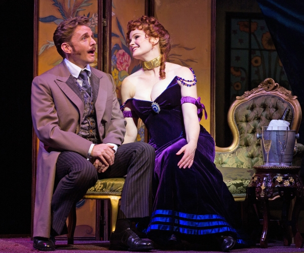 Jason Danieley (Aristide Forestier) and Kate Baldwin (La Mome Pistache)