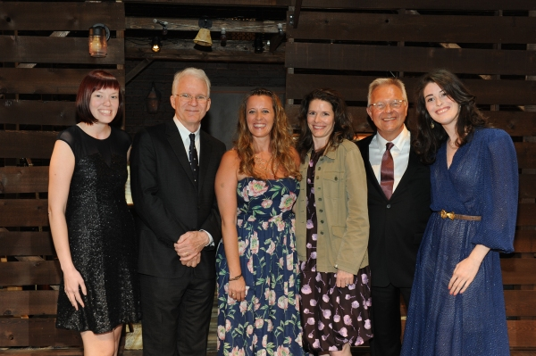 Assistant stage manager Jess Slocum, Steve Martin, stage manager Anjee Nero, Edie Brickell, Walter Bobbie, and assistant stage manager Kendra Stockton