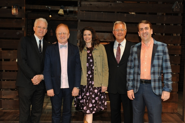 Steve Martin, Peter Asher, Edie Brickell, Walter Bobbie, and Rob Berman
