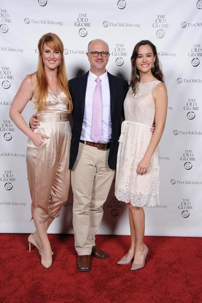 Cast members Lulu Lloyd, Greg Roderick, and Paige Herschell Photo
