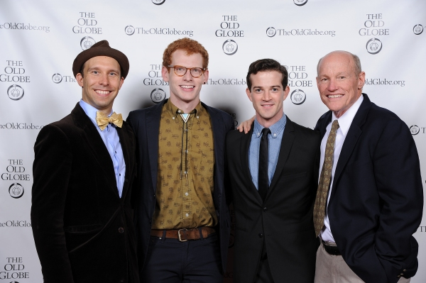 Cast members Joe Jung, Max Chernin, A.J. Shively, and Stephen Lee Anderson