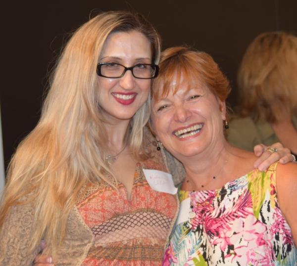 Katherine Elliot (LPTW Member), Frances McGarry (Actress/Networking Committee Member/Salon Series Chair)