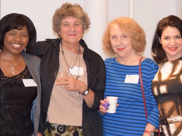 Richarda Abrams (Actress/Board Member/Networking Committee Co-Chair), Maxine Kern (Dramatist/LPTW Co-President),  Pamela Hunt (Director/LPTW Co-President), Romy Nordlinger (Actress/Board Member/Networking Committee Co-Chair)