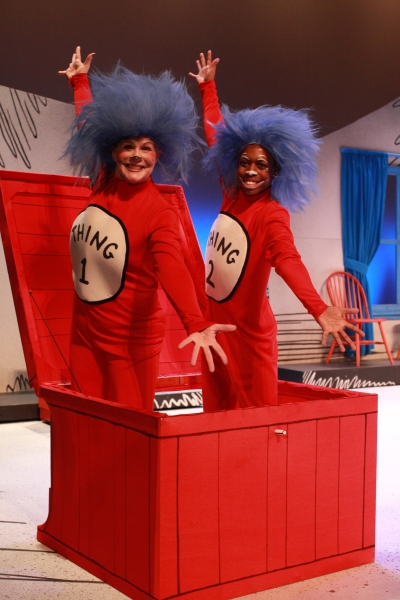 Sue Gillespie Booton as Thing 1 and Aaron Ellis as Thing 2