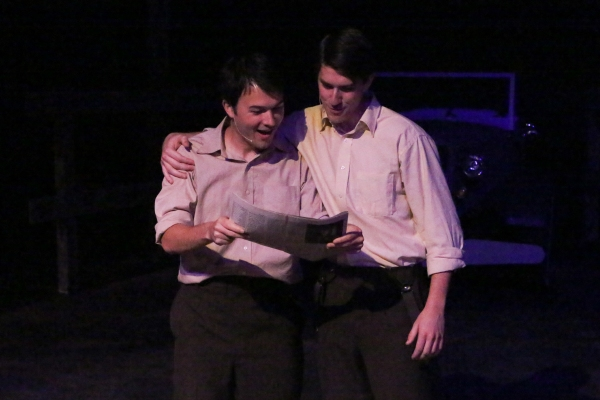 Matt Pentecost and Brendan Ochs as Clyde and Buck Barrow Photo