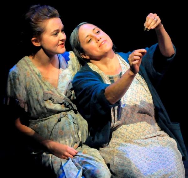 Alissa K. Doyle as Rose of Sharon and Laura Kaya as Ma Joad