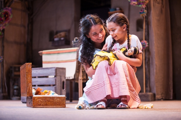 Madison Palomo as Esperanza and Genevieve Schroeder-Arce as Isabel