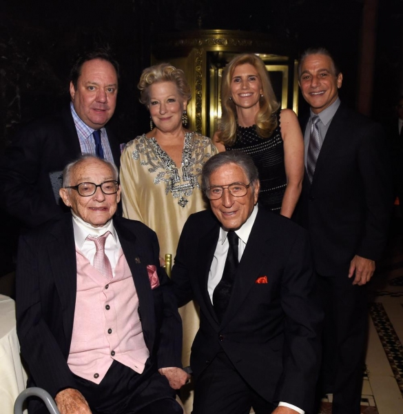 James M. Nederlander, James L. Nederlander, Bette Midler, Tony Bennett, Susan Benedetto and Tony Danza