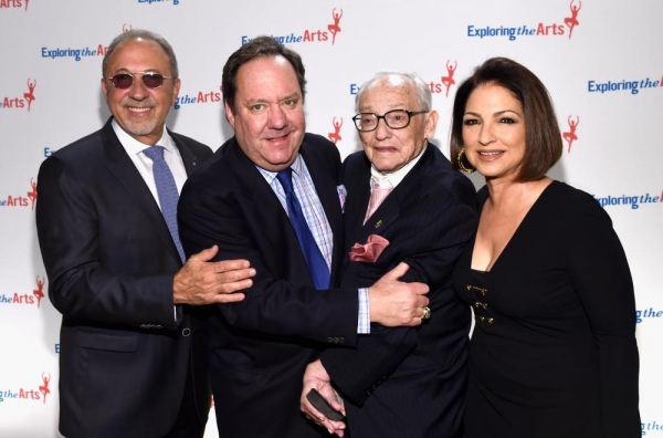 Emilio Estefan, James L. Nederlander, James M. Nederlander and singer Gloria Estefan