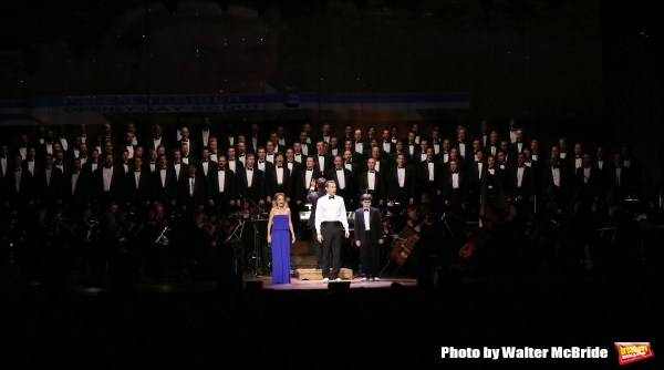 Kristin Chenoweth, Andrew Lippa and Noah Marlowe with The All-Star Broadway Men''s Chorus