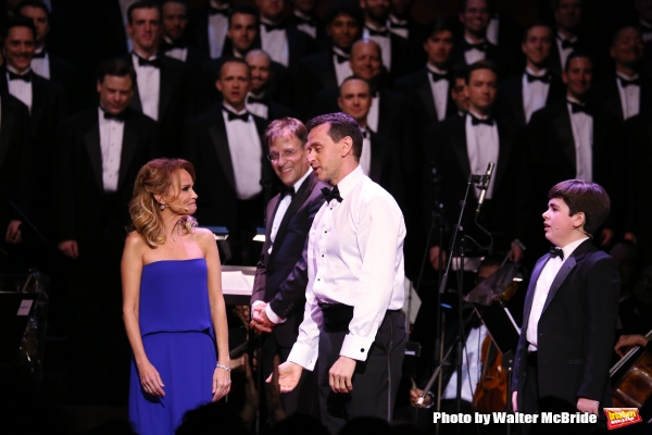 Kristin Chenoweth, Joe Fram, Andrew Lippa and Noah Marlowe with The All-Star Broadway Men''s Chorus