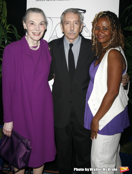 Marian Seldes & Edward Albee & Tonya Pinkins.attending the New Dramatists 58th Annual Spring Luncheon to honor Edward Albee at the Mariott Marquee Hotel in New York City..May 17th, 2007